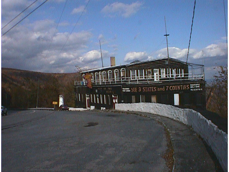 Ship of the Alleghenies Hotel, US 30 near Bedford, Pa., Burned to ground