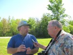 Olander Park Director Gary Madrzykowski being interviewed by Neil Zurcher