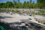 The abandoned shale quarry makes an excellent spot for fossil hunting